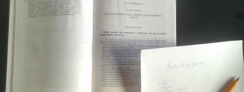 Bienes de la herencia en Galicia.